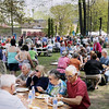 Record-Eagle/Keith King<br /> Attendees of the 56th annual Northwestern Michigan College Barbecue eat Sunday, May 22, 2011 on the NMC campus.