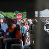 Record-Eagle/Keith King<br /> Attendees wait in line Sunday, May 20, 2012 prior to the start of the 57th annual Northwestern Michigan College Barbecue.