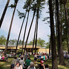 Record-Eagle/Keith King<br /> Attendees eat Sunday, May 20, 2012 during the 57th annual Northwestern Michigan College Barbecue.