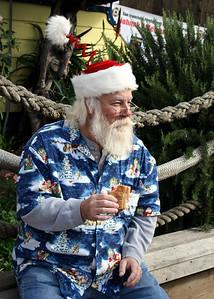 Santa getting his BBQ on...