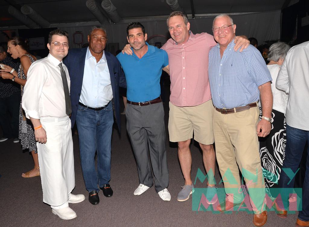 Nat Moore, Randazzo, John Offerdahl, Ed Newman
