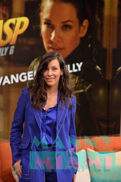 MIAMI, FL - JUNE 27:  Evangeline Lilly visits Despierta America at Univision on June 27, 2018 in Miami, Florida. (Photo by Manny Hernandez)