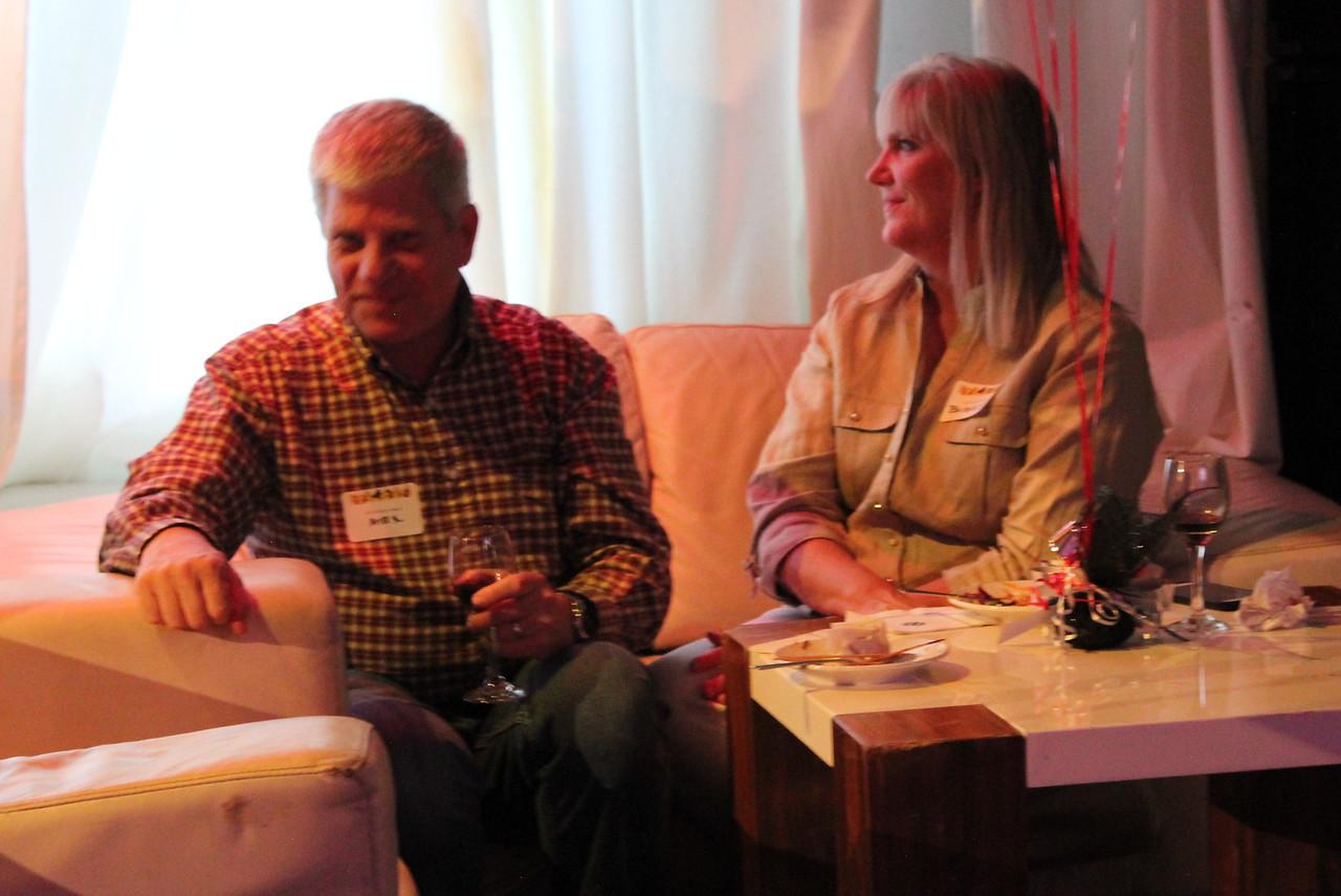 Birthday partner Jeff, and his wife, Bridget