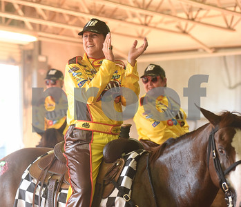 Darlene Culbertson of the The Ghostrider's  senior quad team applauds for another team during Super Ride XIV 2016 International Festival Of The Equestrian Arts held at Texas Rose Horse Park in Lindale June 15, 2016. The event continues through Saturday and features equestrian drill team and trick riding competitions.   (Sarah A. Miller/Tyler Morning Telegraph)