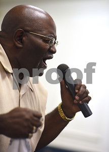 John Runnels sings at the 8th annual Gospel Explosion held by the Juneteenth Association of Tyler at Peoples Missionary Baptist Church Friday June 17, 2016.  (Sarah A. Miller/Tyler Morning Telegraph)