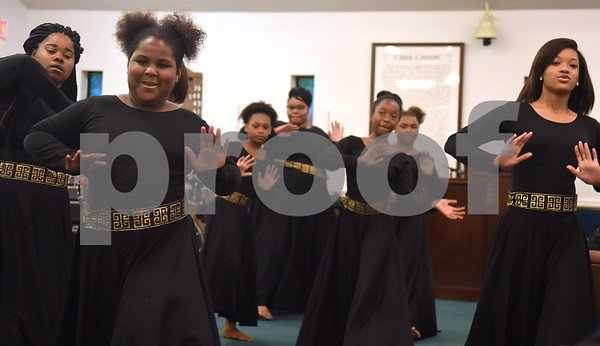 The St. James C.M.E. Church Praise Dancers perform at the 8th annual Gospel Explosion held by the Juneteenth Association of Tyler at Peoples Missionary Baptist Church Friday June 17, 2016.  (Sarah A. Miller/Tyler Morning Telegraph)