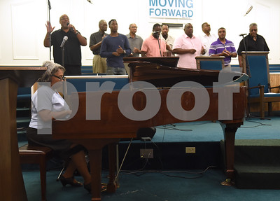 The Starville Male Chorus performs at the 8th annual Gospel Explosion held by the Juneteenth Association of Tyler at Peoples Missionary Baptist Church Friday June 17, 2016.  (Sarah A. Miller/Tyler Morning Telegraph)
