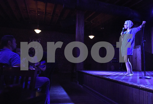 Lindsay Goldapp performs as part of the East Texas Comedy Festival Wednesday night June 22, 2016 at Rick's on the Square.  (Sarah A. Miller/Tyler Morning Telegraph)