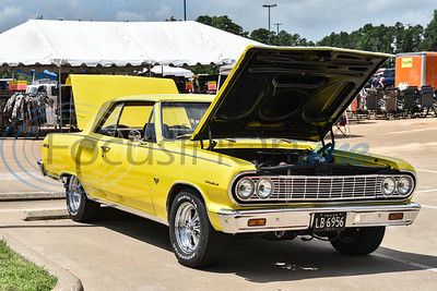 A car stands on display as part of the Gander Outdoor Fest on Saturday, June 22. The event was coordinated by the East Texas Locals group in Tyler and also included a kids car show. (Jessica T. Payne/Tyler Morning Telegraph)