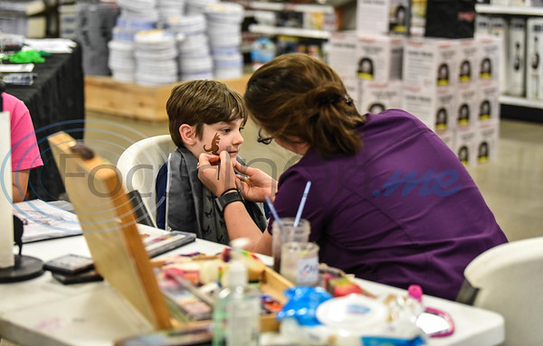 Aiden Wright, 6, gets his face painted at the Gander Outdoor Fest on Saturday, June 22. The event put on by the East Texas Locals also included food trucks, paintball, live music and more. (Jessica T. Payne/Tyler Morning Telegraph)