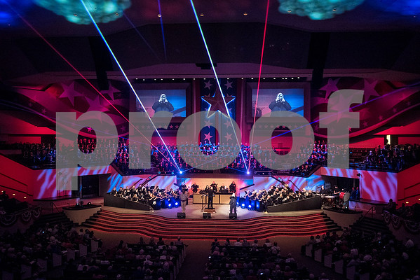 "The 27th annual ""I Love America"" program at Green Acres Baptist Church in Tyler, Texas, on Friday, June 23, 2017. The show featured patriotic tunes and Christian worship songs to celebrate Independence Day. (Chelsea Purgahn/Tyler Morning Telegraph)"