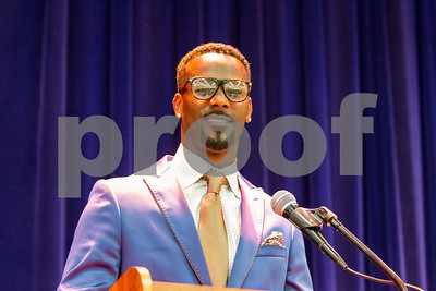 NFK Star and John Tyler alumni Aaron Ross was the keynote speaker at the NAACP Freedom Fund Scholarship Annaul Banquet held at Harvey Hall on June 25th.  photo by John Murphy