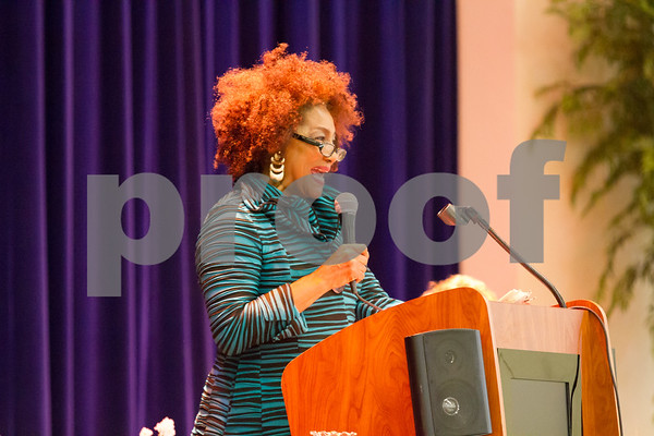 Shirley Witherspoon was the Mistess of Ceremonies at the NAACP Freedom Fund Scholarship Annual Banquet on Saturday June 25 held at Harvey Hall in Tyler TX.  photo by John Murphy