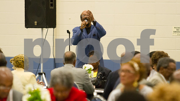 Dr. Otis Webster provides musical entertainment at the annual NAACP freedom Fund Scholarship Banquet on June 25, 2016 at Harvey Hall in Tyler TX. photo by John Murphy