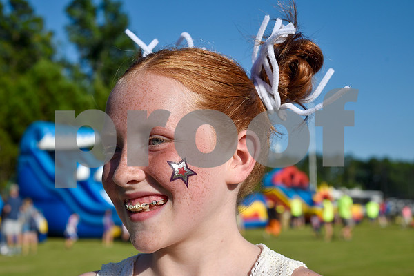 Lola Pepple, 11, poses for a portrait during the family fireworks celebration at South Spring Baptist Church in Tyler, Texas, on Friday, June 30, 2017. The event featured live music, food trucks, bounce houses and fireworks for families to enjoy. (Chelsea Purgahn/Tyler Morning Telegraph)