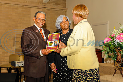 Dr. Bobby Land, Sr. receives the Pastor of the Year award at the 2019 Juneteenth Historical Spectaculer Celebration at  Pleasant Grove Baptist Church in Tyler TX. fPhoto by John Murphy