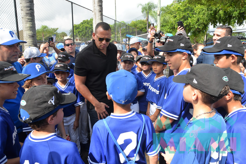 MIAMI, FL - JULY 11: MLB All Star Week Miami Ribbon Cutting at the Boys and Girls Club in Kendall on July 11, 2017 in Miami Beach, Florida. (Photo by Manny Hernandez/ MannyofMiami.com)