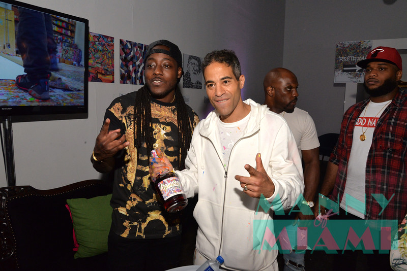 MIAMI, FL - JULY 21: Hennessy V.S Limited Edition Bottle Launch with artist JonOne at Cafeina in Wynwood on July 21, 2017 in Miami, Florida. (Photo by Manny Hernandez/ MannyofMiami.com)