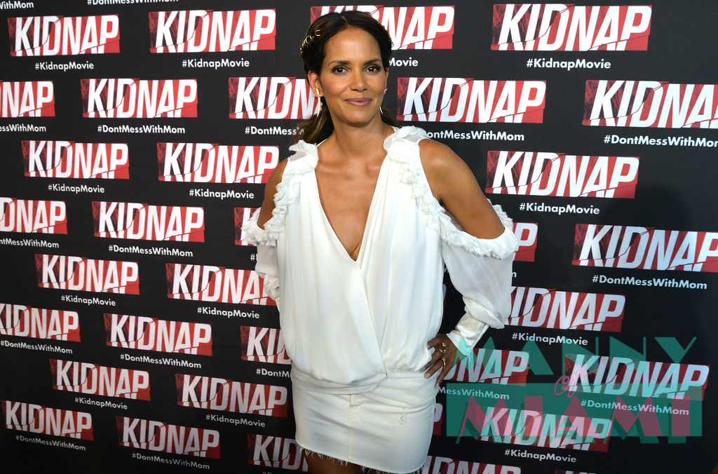 MIAMI BEACH, FL - JULY 24: Halle Berry at the Kidnap Miami premiere at the Regal South Beach on July 24, 2017 in Miami Beach, Florida. (Photo by Manny Hernandez/ MannyofMiami.com)