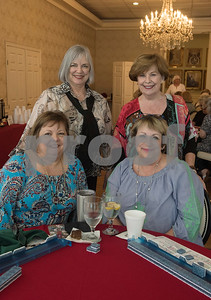 Jennifer Travis, Vicki Chism, Barbara Coldicutt (standing) and Jennifer Oler (standing) are pictured during the 16th annual Mah Jongg for Memory Luncheon and Games Day at Willow Brook Country Club in Tyler Thursday July 13, 2017. The event is a fundraiser for the Alzheimer's Alliance of Smith County. Over 400 people participated in the day-long event.  (Sarah A. Miller/Tyler Morning Telegraph)