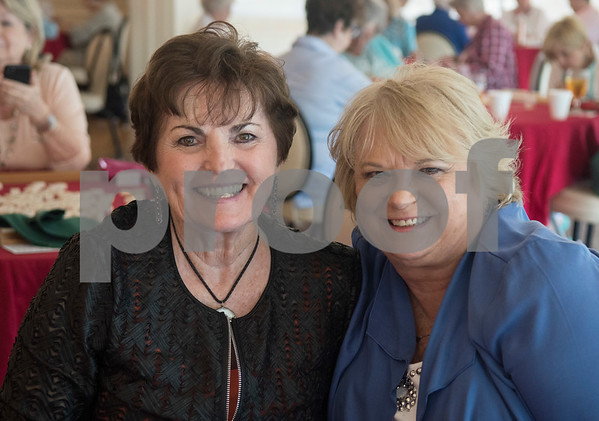 Jane Spence and Dianna Biggs are pictured during the 16th annual Mah Jongg for Memory Luncheon and Games Day at Willow Brook Country Club in Tyler Thursday July 13, 2017. The event is a fundraiser for the Alzheimer's Alliance of Smith County. Over 400 people participated in the day-long event.  (Sarah A. Miller/Tyler Morning Telegraph)