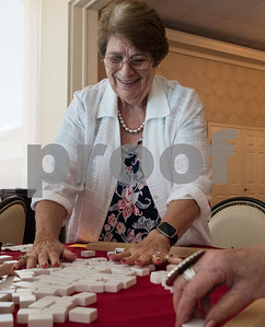 Rebecca Phy plays Mah Jongg during the 16th annual Mah Jongg for Memory Luncheon and Games Day at Willow Brook Country Club in Tyler Thursday July 13, 2017. The event is a fundraiser for the Alzheimer's Alliance of Smith County. Over 400 people participated in the day-long event.  (Sarah A. Miller/Tyler Morning Telegraph)