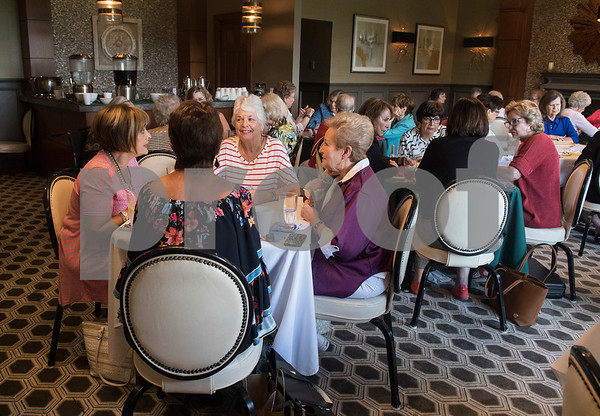 Women sit in tables of four as they play games of Mah Jongg during the 16th annual Mah Jongg for Memory Luncheon and Games Day at Willow Brook Country Club in Tyler Thursday July 13, 2017. The event is a fundraiser for the Alzheimer's Alliance of Smith County. Over 400 people participated in the day-long event.  (Sarah A. Miller/Tyler Morning Telegraph)
