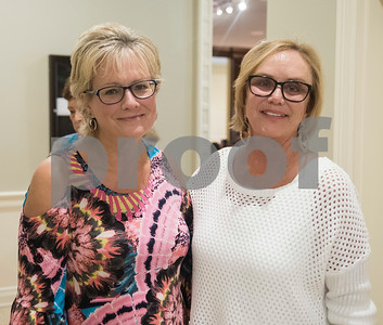 Jenny Clark and Sarah Cain are pictured during the 16th annual Mah Jongg for Memory Luncheon and Games Day at Willow Brook Country Club in Tyler Thursday July 13, 2017. The event is a fundraiser for the Alzheimer's Alliance of Smith County. Over 400 people participated in the day-long event.  (Sarah A. Miller/Tyler Morning Telegraph)