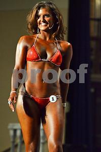 Kara Hegwood competes in the bikini category of the show. (Victor Texcucano)