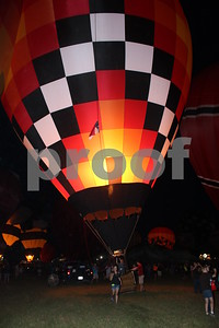 Balloon Glow at East Texas Regional Airport - July 27, 2013