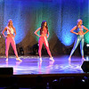 Miss Henry County, Emma-Kate Moore, center, on stage with other contestants in the Miss Indiana Teen USA pageant.