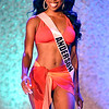 Miss Anderson, A'niyah Birdsong, shows off her swimsuit during competition at the Miss Indiana USA & Miss Indiana Teen USA pageant held at the Paramount Theatre Monday evening.