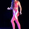 Miss Teen Henry County, Emma-Kate Moore, struts her stuff across the stage during the active wear competition for the Miss Indiana Teen USA Show Monday at the Paramount Theatre.