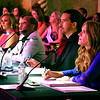the panel of judges for the Miss Indiana USA & Miss Indiana Teen USA pageant watch the contestants with a keen eye.