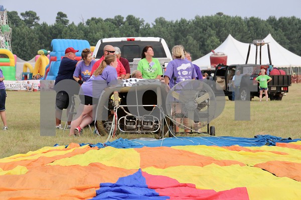 Balloon Glow Event at the Great Texas Balloon Race by james bauer
