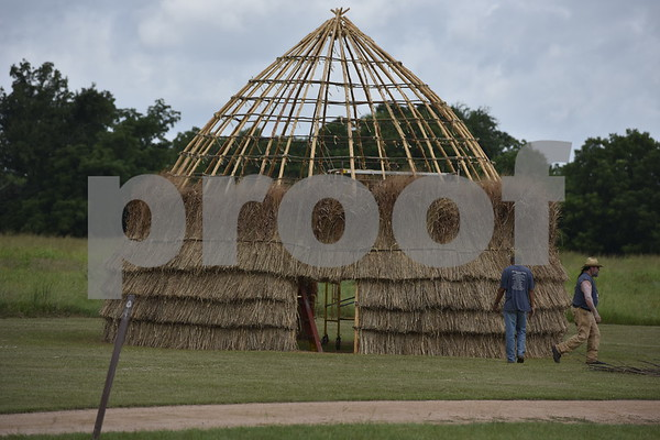7/7/16 Caddo Mounds Grass House Project by Andrew D. Brosig