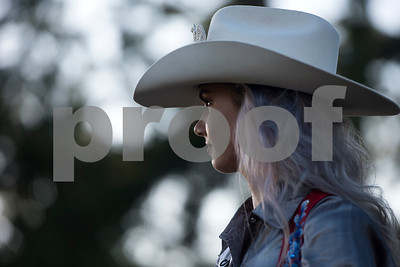 Skyler Gregory sits on her horse during the Mineola Volunteer Fire Department Rodeo at the Fire Department Rodeo Arena in Mineola, Texas, on Friday, July 7, 2017. The rodeo featured a number of rodeo events from barrel racing to steer wrestling. (Chelsea Purgahn/Tyler Morning Telegraph)