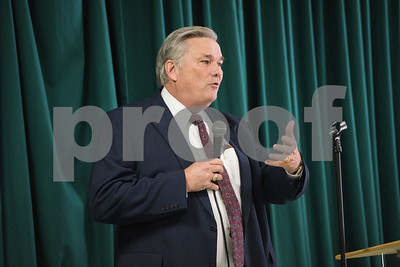 Smith County Sheriff Larry Smith speaks at the Together We Stand community event at College Hill Baptist Church in Tyler Saturday July 9, 2016.   (Sarah A. Miller/Tyler Morning Telegraph)