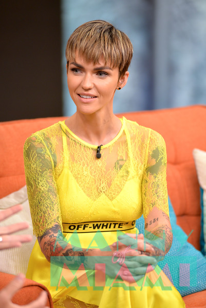Ruby Rose promotes new movie The Meg in Miami