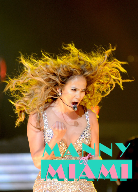 MIAMI, FL-- August 31, 2012-- Jennifer Lopez  performs at American Airlines Arena as part of the Jennifer Lopez and Enrique Iglesias tour. (Photo by Manny Hernandez)