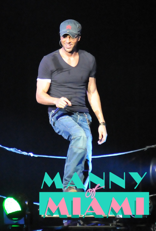 MIAMI, FL-- August 31, 2012-- Enrique Iglesias performs at American Airlines Arena as part of the Jennifer Lopez and Enrique Iglesias tour. (Photo by Manny Hernandez)