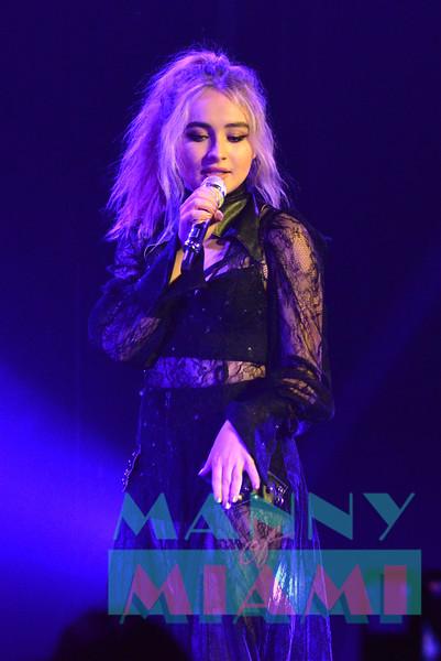 MIAMI BEACH, FL - AUGUST 4: Sabrina Carpenter De-Tour at the Fillmore Miami Beach on August 4, 2017 in Miami Beach, Florida. (Photo by Manny Hernandez/ MannyofMiami.com)