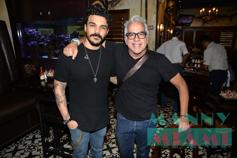 MIAMI, FL - AUGUST 8th:  Shalim Ortiz and Richard Jay-Alexander visits Walter Mercado exhibit at HistoryMiami museum on August 8th, 2019 in Miami, FL. (Photo by Manny Hernandez)