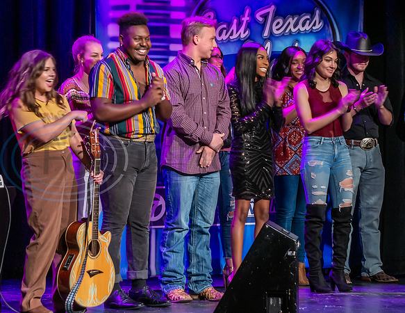 Top 5 Contestants announced in the 2019 East Texas Idol Compeition. (From left to right) Delaney Worth, Jaylon Crump, Steven Hibbard, Ebonique Mapps, and Karisia Hernandez.