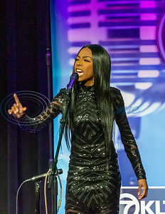 Contestant Ebonique Mapps performs in the 2019 East Texas Idol Competition.
