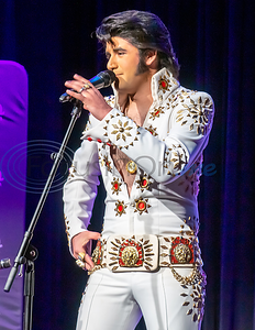 Josh Davis impersonates Elvis in the first round of the 2019 East Texas Idol Competition.