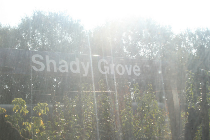 Pulling away from Shady Grove - Red Line