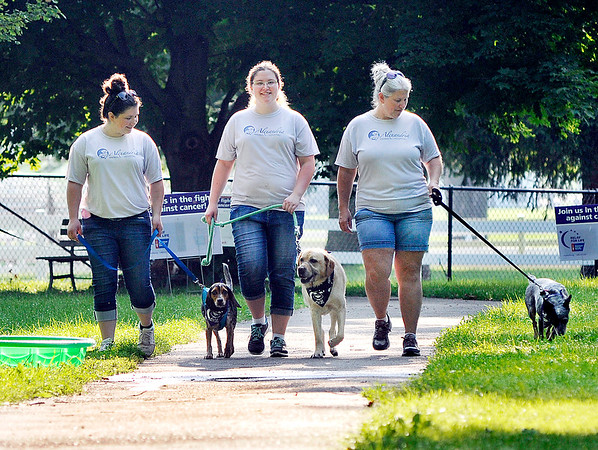 John P. Cleary   The Herald Bulletin<br /> Madison County's first American Cancer Society Bark For Life event was held Saturday morning at Beulah Park in Alexandria.