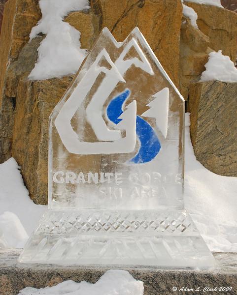 Ice Carving For Corporate Sponsor<br /> Granite Gorge Ski Area