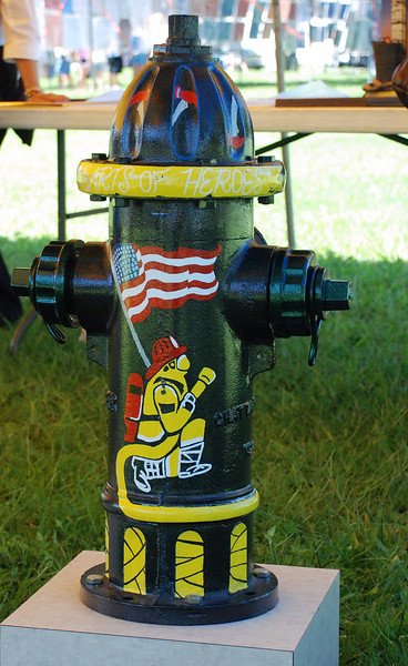The following photo`s of painted fire hydrants were done by the students at Fivay High School.